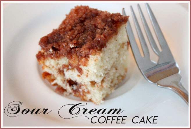 Sour Cream Coffee Cake with Streusel Topping