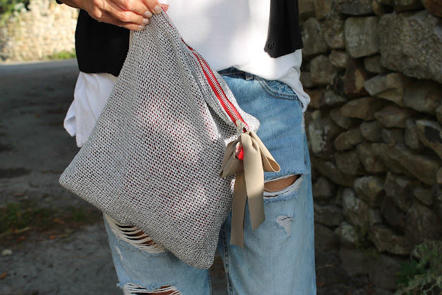 Bag by me, Crochet Bag, Styling, Carmen Hummer, Look, Summer Timme, Holiday, Cantabria, Pechón