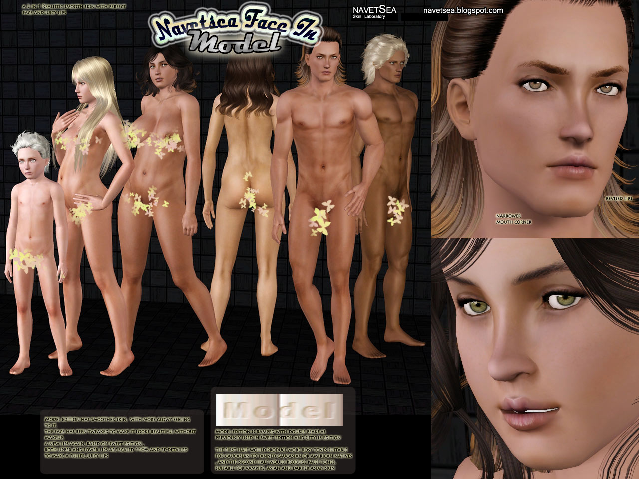 Nude sim 2 skins adult photo
