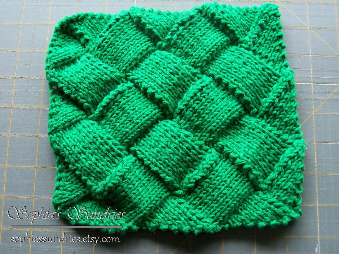 Entrelac Knitting Dishcloth Pattern : Knitting: More Dishcloths Sophias Sundries