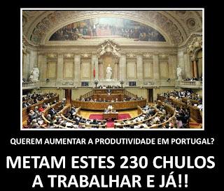 Assembleia república deputados parasitas