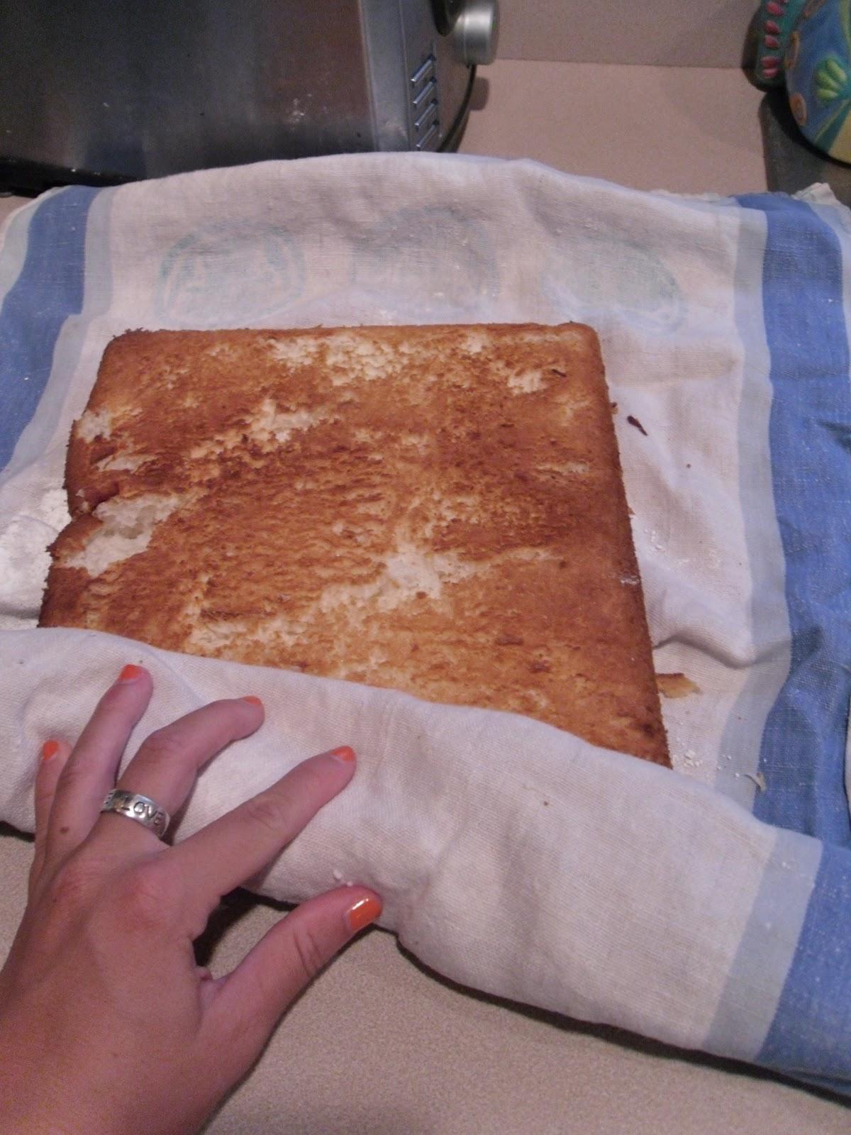 Rolling Angel Food Cake Roll Up Recipe