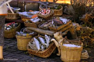 La pescadería en el Belén de la Diputación
