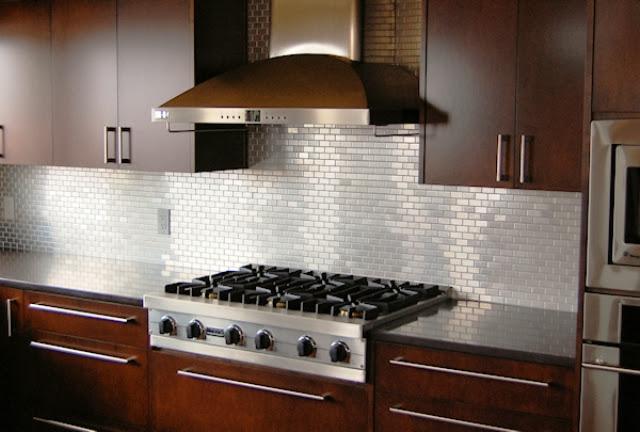 Stainless Steel Tile Backsplash Ideas