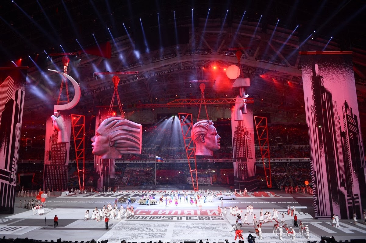 communist russia,sochi olympics,hammer and cycle