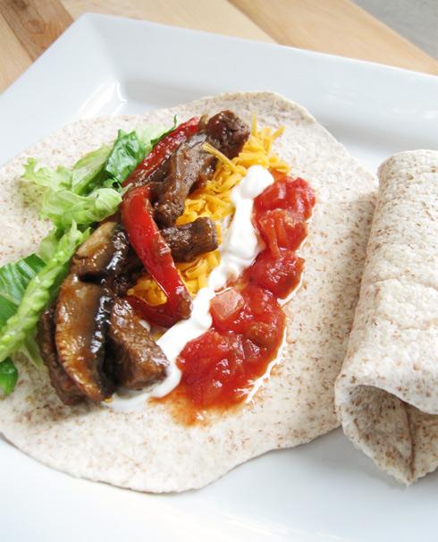 My. Daily. Randomness.: Beef & Portabella Mushroom Fajitas