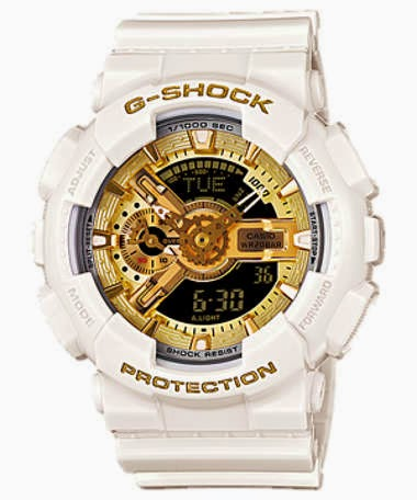 Image Name Casio G Shock X Baby G GBG 13SET 7AJR White Gold Watches