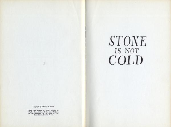 M. Sasek - Stone is not Cold (1961)   W.H. Allen. London