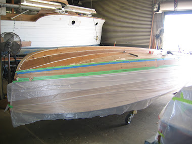 Before - Chris Craft Sportsman, Replanking Hull