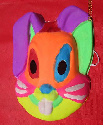 lukis wajah topeng kelinci bali