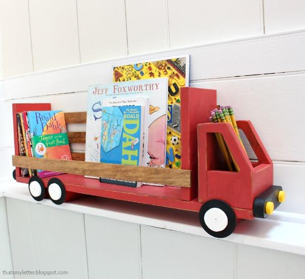 diy truck bookshelf free plans