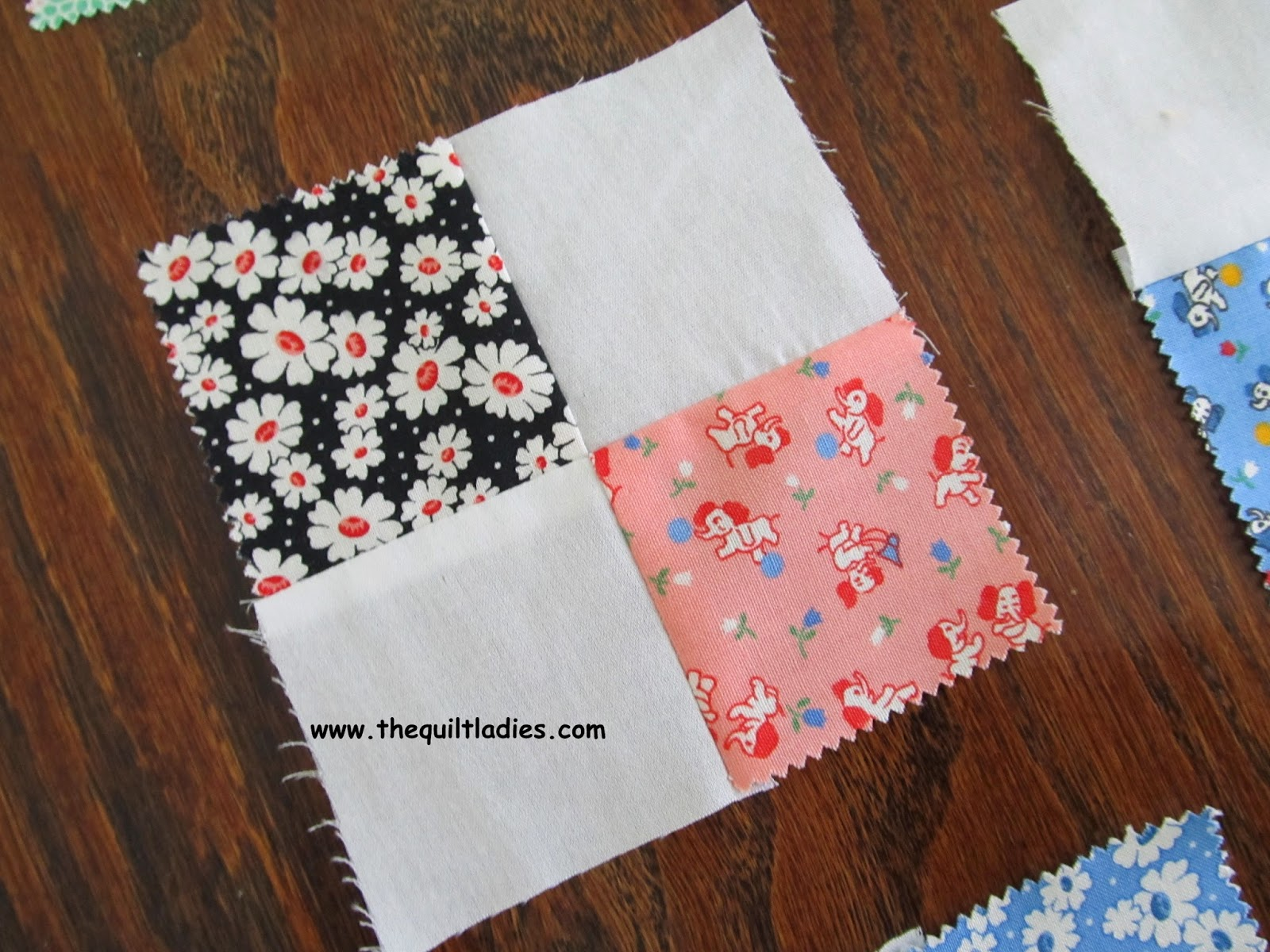 how to make a 4-patch quilt block