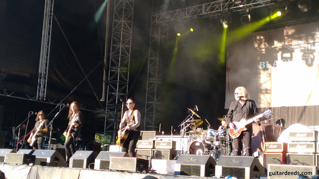 Black Star Riders Live @ Burg Clam Slash Vorband 2015