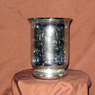 Replica Mercury Glass Hurricane Vase