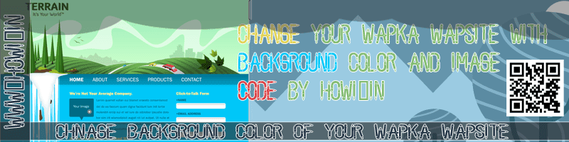 Change Background Color of Your Wapka Wapsite