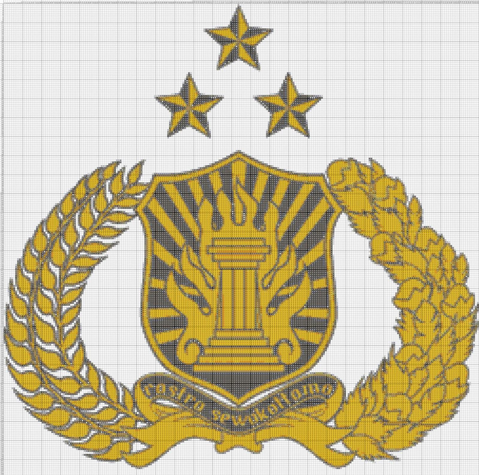 Gambar Pola Kristik Lambang Kepolisian Negara Republik Indonesia