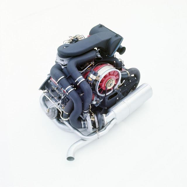 3.0-litre flat-six engine with turbocharger; Porsche 911 Turbo (930); 1975