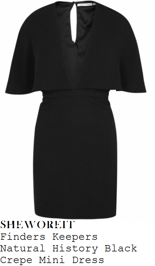 mollie-king-black-cape-sleeve-plunge-front-bodycon-mini-dress