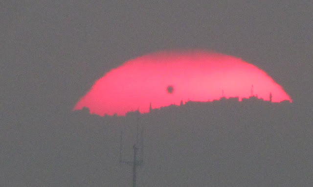Venus transit at sunrise