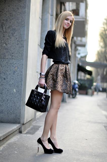 leopard print skirt by chiara ferragni, theblondesalad