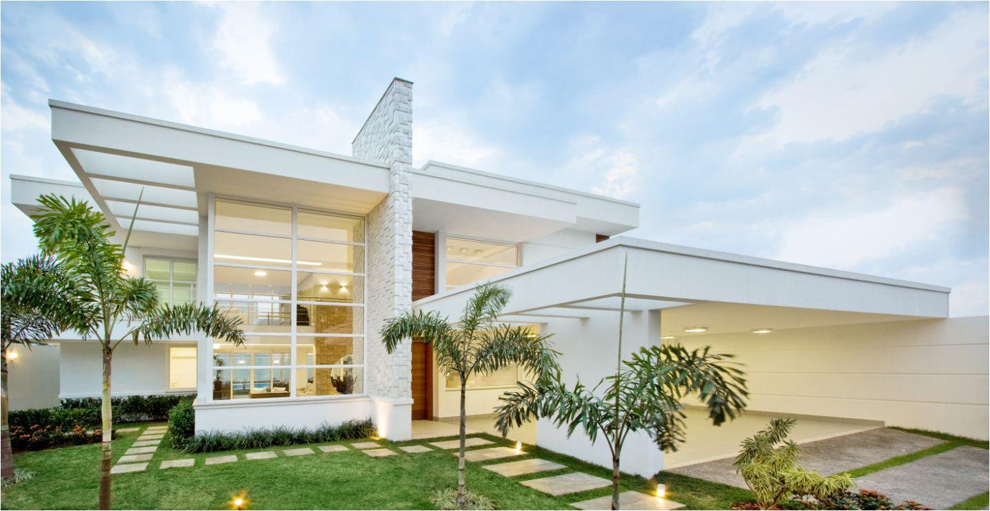 Construindo minha casa clean fachadas com esquadrias de for Casas modernas 4 aguas