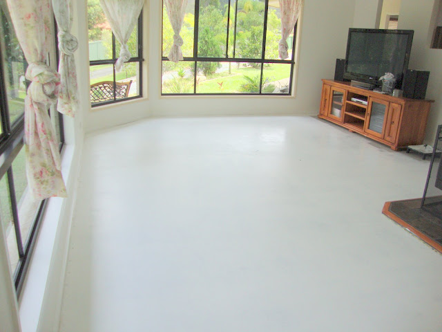 Paint Me White Painted Concrete Floors