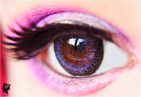 Opaque Circle Contact Lenses for Dark Brown Eyes