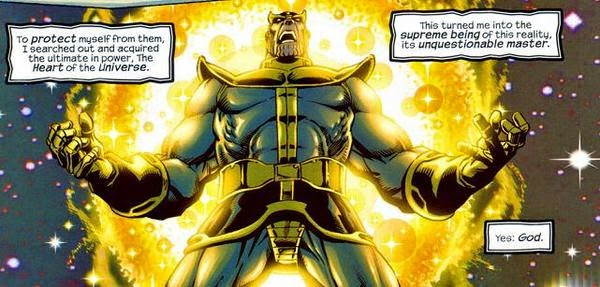 Thanos becomes God after merging with Heart of the Universe