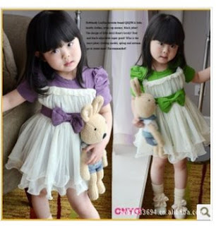 Dress anak import korea