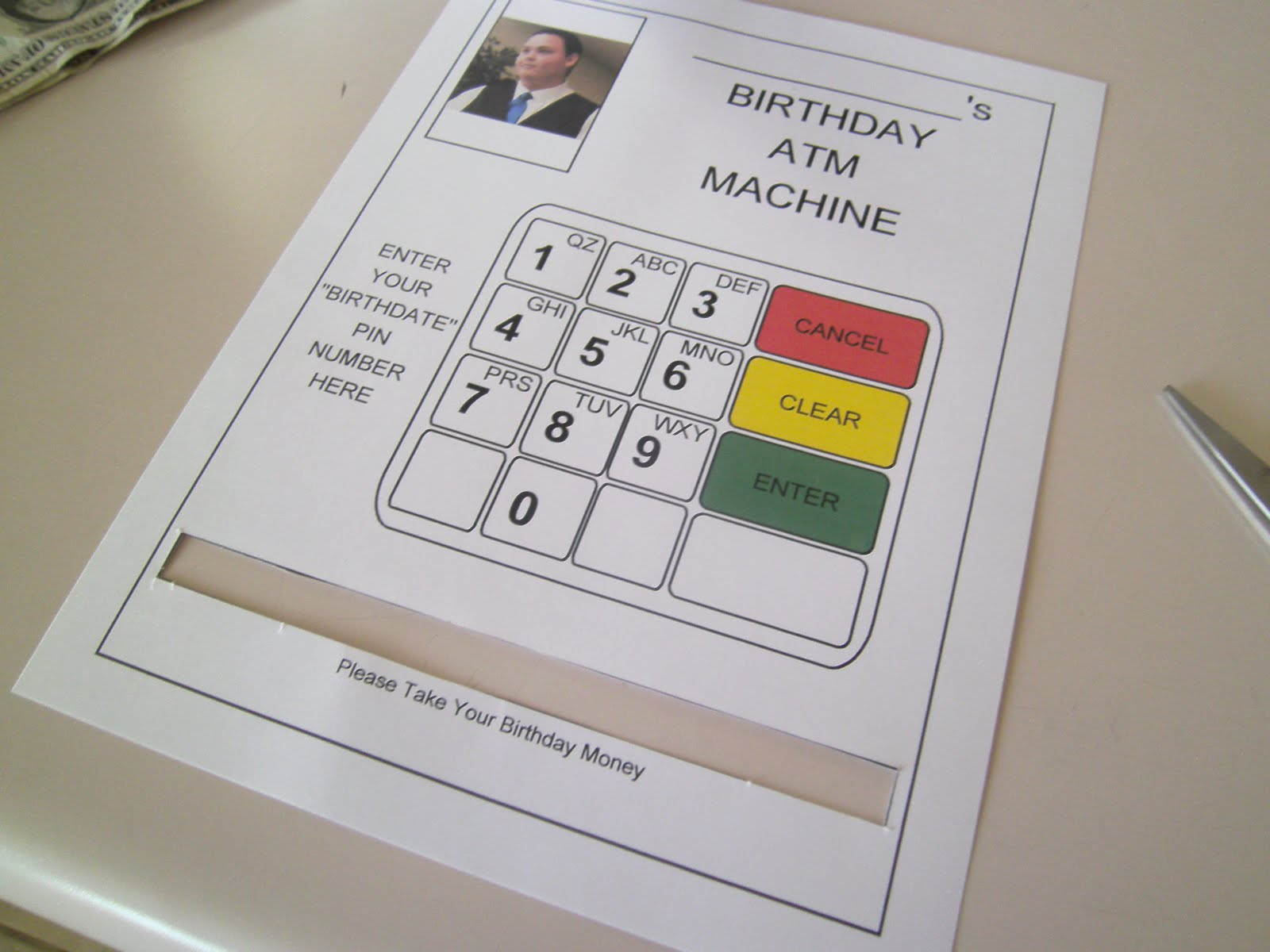 RobbyGurls Creations DIY Birthday Card ATM Machine