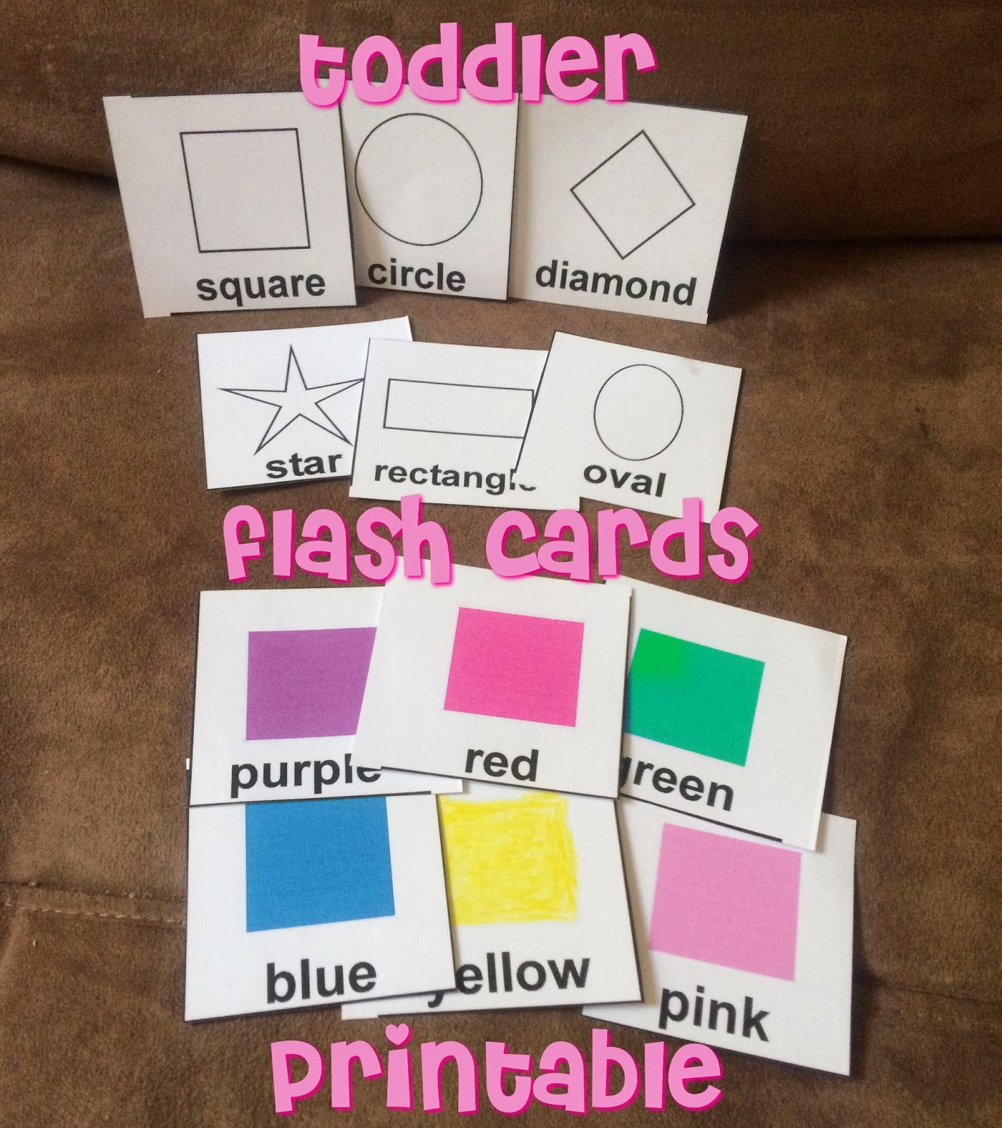 It is a photo of Invaluable Printable Toddler Flash Cards