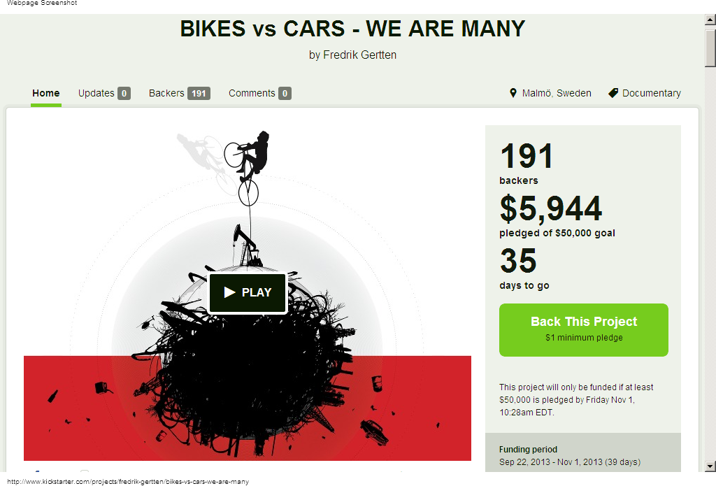 Bikes Vs Cars Trailer New Doc Bikes vs Cars We Are