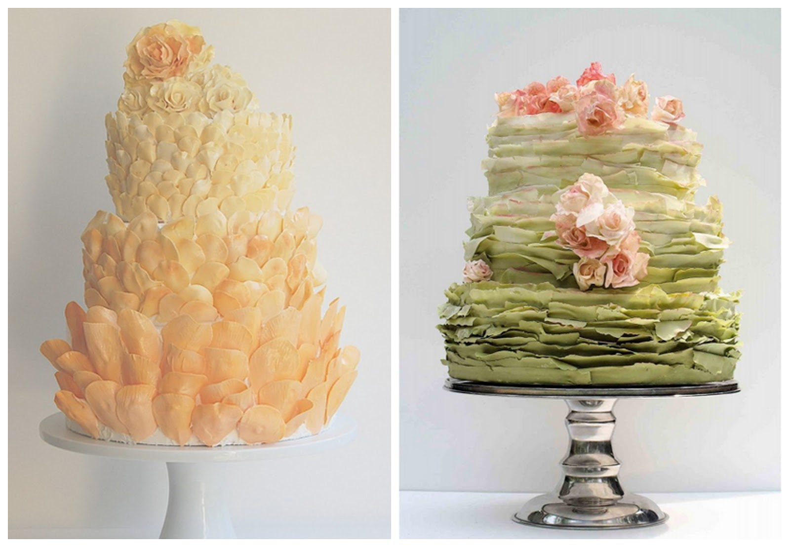 Wedding Cake Images Pinterest : Incredible Colourful Ombre Wedding Cakes