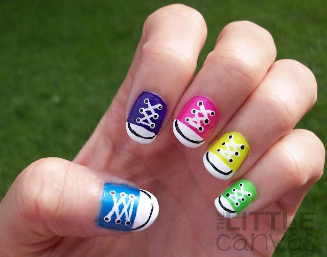 31 day challenge day 7 rainbow nails converse nail art
