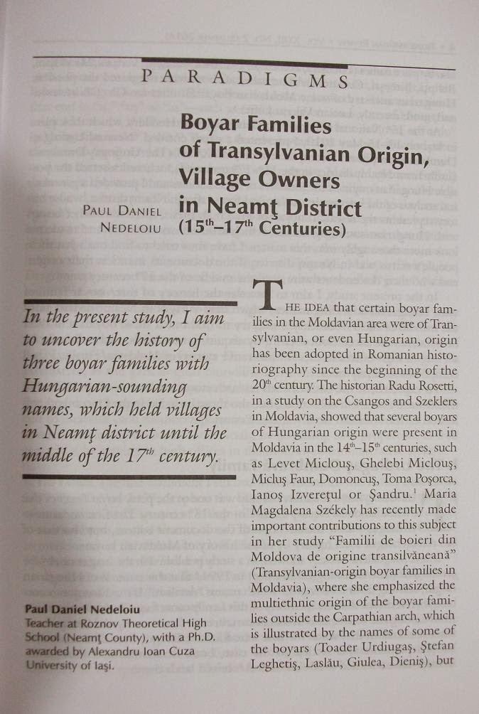 Prima pagină a studiului...
