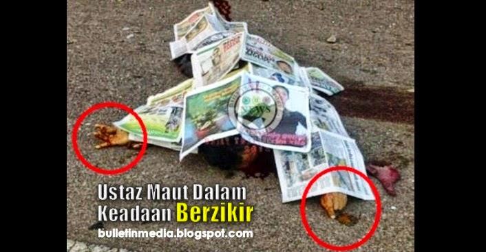 5 Gambar Kemalangan Ngeri Dedah Jari Ustaz Yang Maut Dalam Keadaan Berzikir !!!