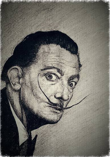 Salvador Dali by Anjali S Goel ( part of her portfolio on www.indiaart.com )
