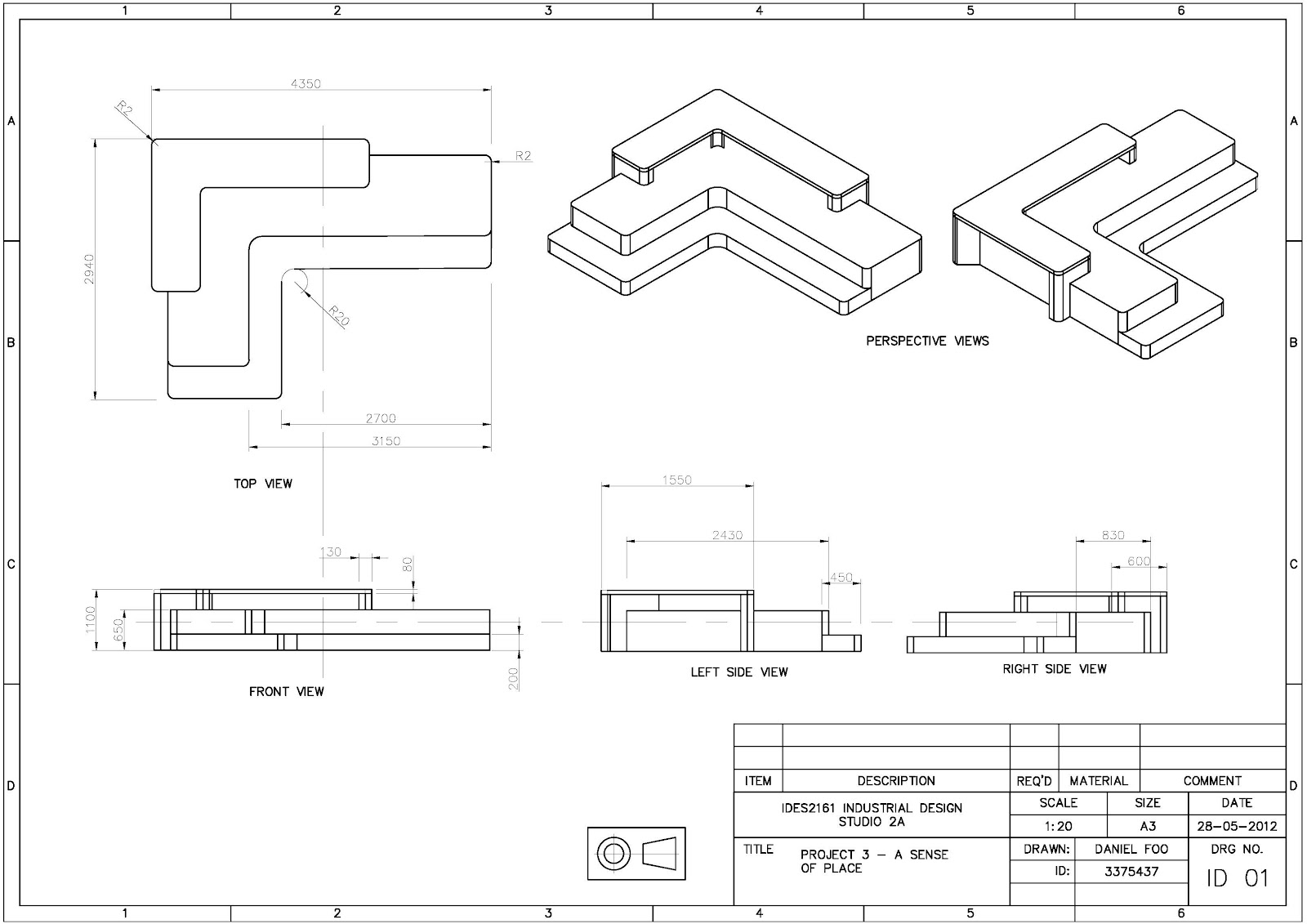 Furniture Technical Drawings Technical Drawing 2 With