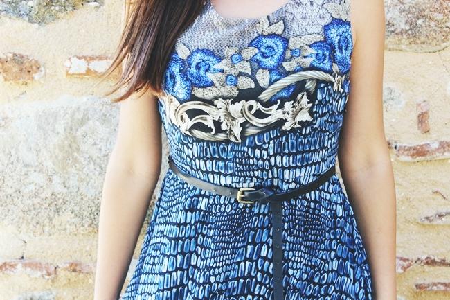 Snakeskin outfit.Snakeskin dress.Bershka skinny belt.Zmijski print haljina.
