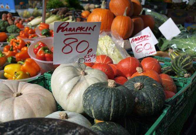 Pumpkins for sale on portobello road