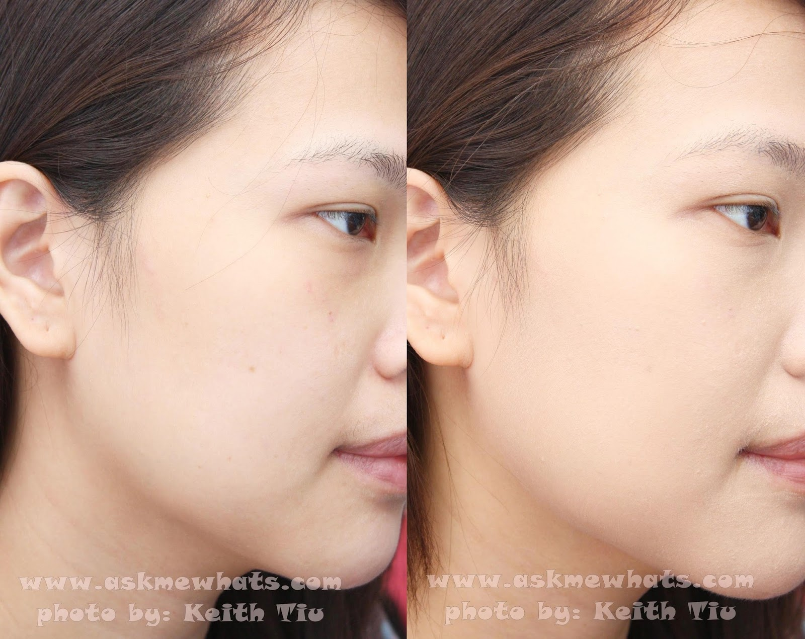 Before And After Photo Using Etude House Precious Mineral Bb Cream Bright  Fit Heavy Grunge Makeup