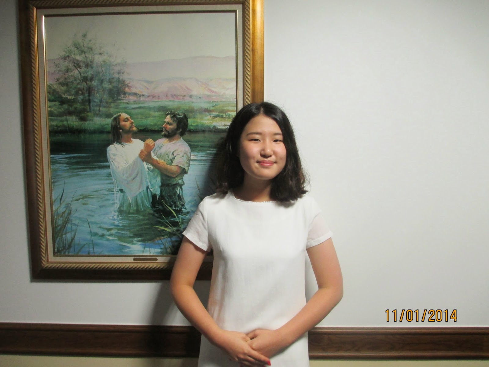 kim min sun at her baptism! She's so great!