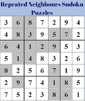Repeated Neigbhours Sudoku Puzzles