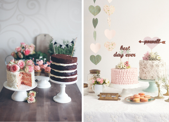 Wedding cake alternative ideas, mini wedding cakes