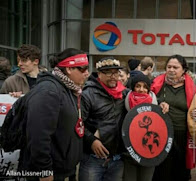 Indigenous Protest Tar Sands Profiteer, Total, in Paris