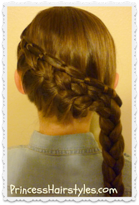 cinch knot feather braid hair tutorial