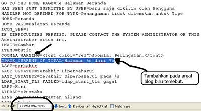 Cara Menghilangkan JPAGE_CURRENT_OF_TOTAL pada Joomla
