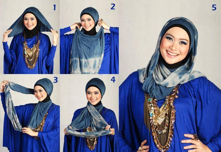Contoh Macam-Macam Cara Memakai Hijab