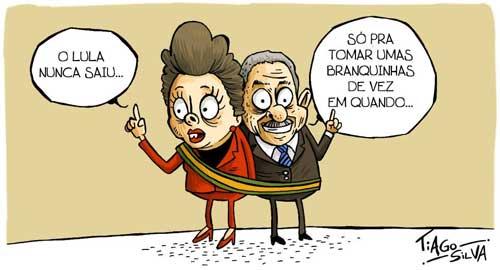 Charge do dia: Dilma afirma 'Lula não vai voltar porque não saiu' - Por Tiago Silva