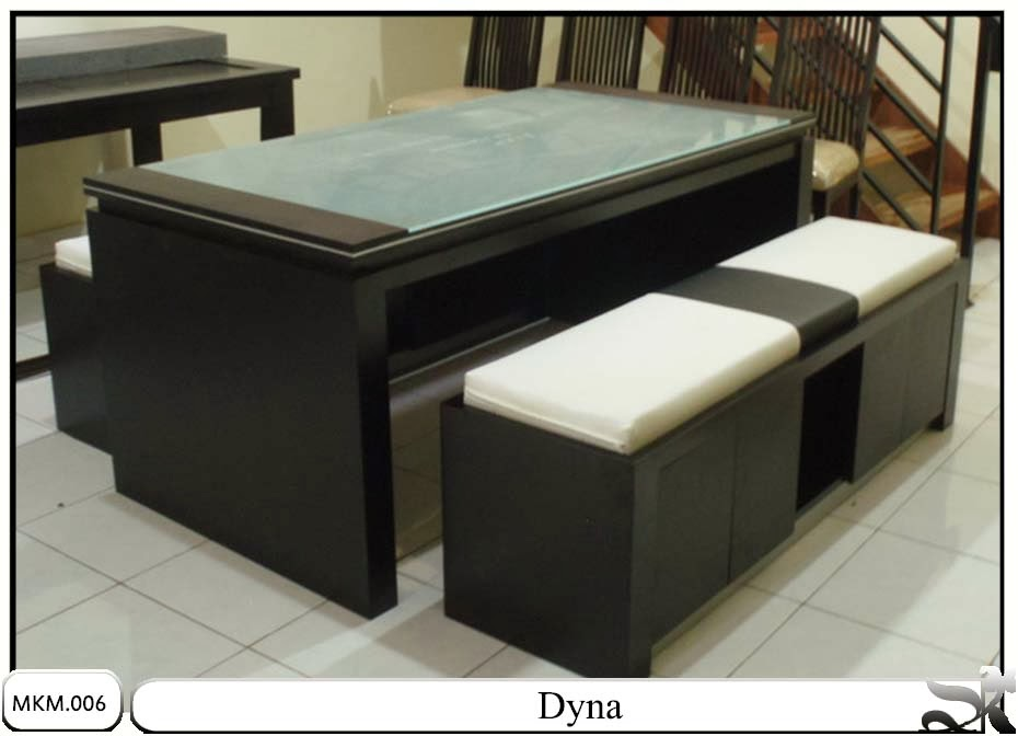 Meja & kursi makan minimalis set dyna